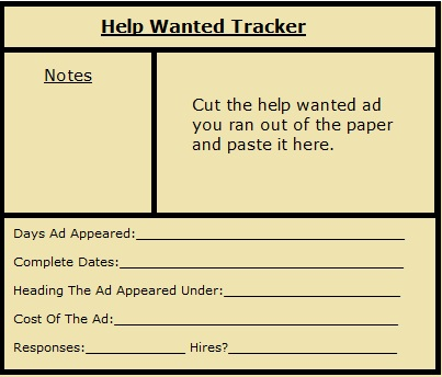job wanted ad template