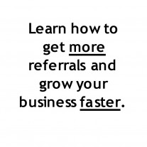 Post image for Tips On Getting Referrals In The Cleaning Business