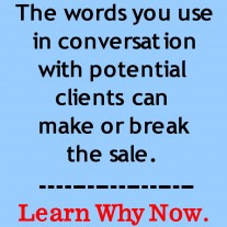 Post image for Increase Sales By Choosing The Right Words