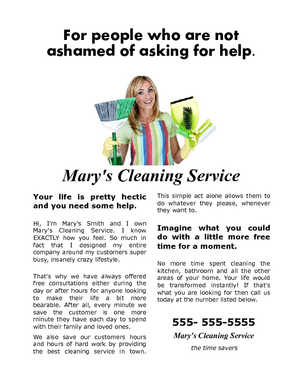 House Cleaning Flyer that gets results.