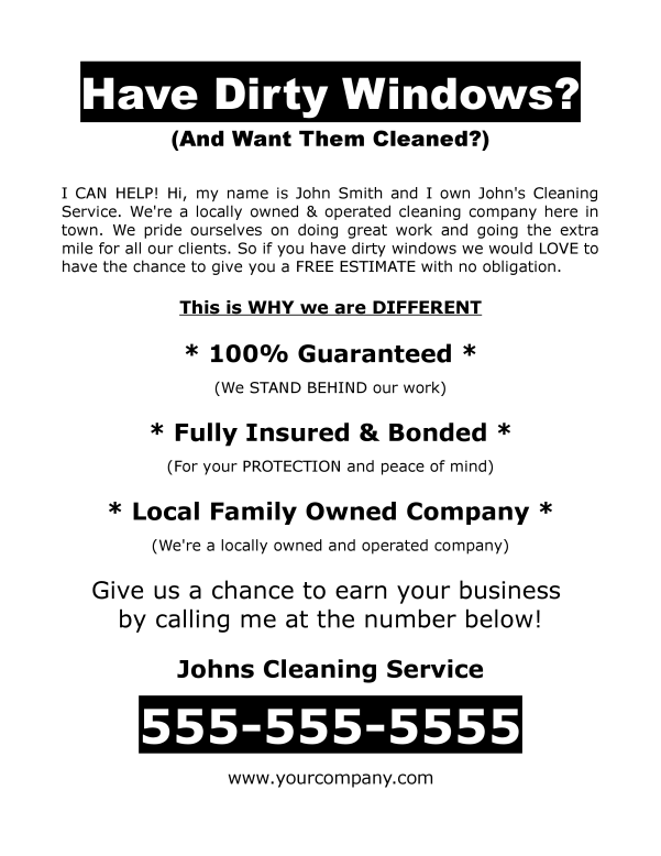 free download window washing flyer cleaning 4 profit