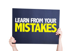 Post image for Don't be afraid to make mistakes when just starting out. Mistakes are VALUABLE learning experiences!